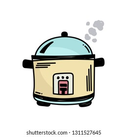 rice cooker. hand-drawn doodle