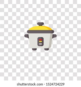 rice cooker icon sign and symbol. rice cooker color icon for website design and mobile app development. Simple Element from electronics collection for mobile concept and web apps icon.