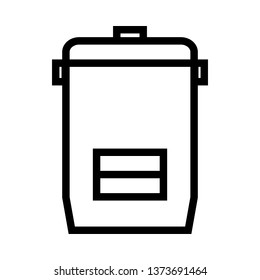 Rice electric cooker line icons - Vector