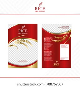 Rice food or thai food, banner and poster template vector design.