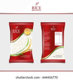 Rice food or thai food, package, banner and poster template vector design.