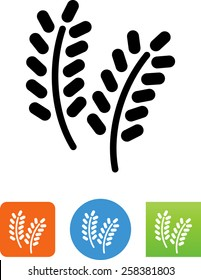 Rice grain plant icon