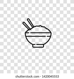 rice icon from  collection for mobile concept and web apps icon. Transparent outline, thin line rice icon for website design and mobile, app development