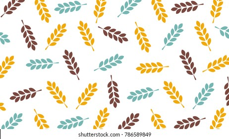 Rice pattern vector. free space for text. wallpaper. background.