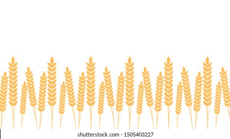 Rice pattern wallpaper. oat pattern vector. free space for text. copy space.
