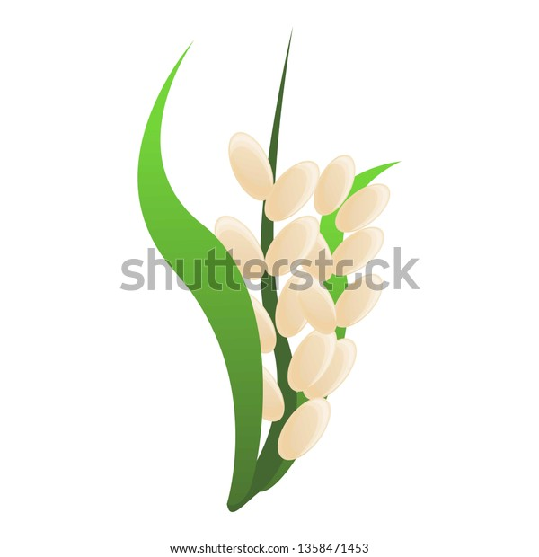 rice plant icon cartoon rice plant stock vector royalty free 1358471453 shutterstock
