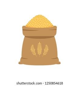 Rice sack cartoon vector. new design. oat vector.