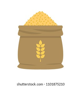 Rice sack cartoon vector. symbol. free space for text. wallpaper. background.