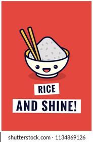 Rice and Shine Pun Poster Design