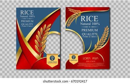 Rice Thailand food Logo Products and Fabric Background Thai Arts,  banner and poster template design rice food.