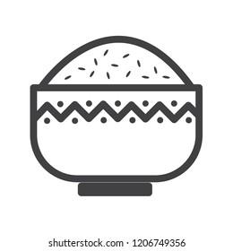 Rice vector icon