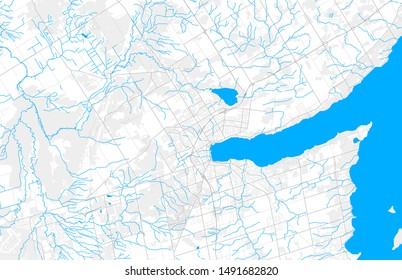 Rich detailed vector area map of Barrie, Ontario, Canada. Map template for home decor.