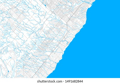 Rich detailed vector area map of Oakville, Ontario, Canada. Map template for home decor.