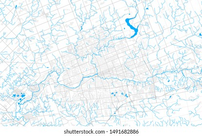 Rich detailed vector area map of London, Ontario, Canada. Map template for home decor.