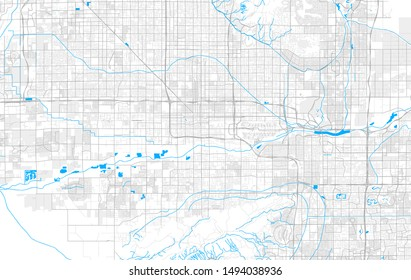 Rich detailed vector area map of Phoenix, Arizona, U.S.A.. Map template for home decor.