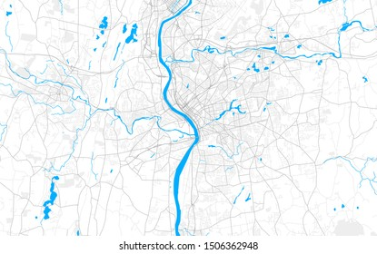 Rich detailed vector area map of Springfield, Massachusetts, USA. Map template for home decor.