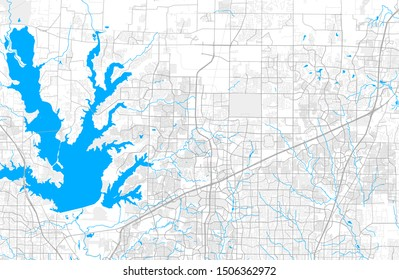 Rich detailed vector area map of Frisco, Texas, USA. Map template for home decor.