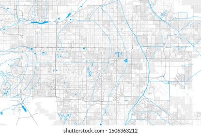 Rich detailed vector area map of Gilbert, Arizona, U.S.A.. Map template for home decor.