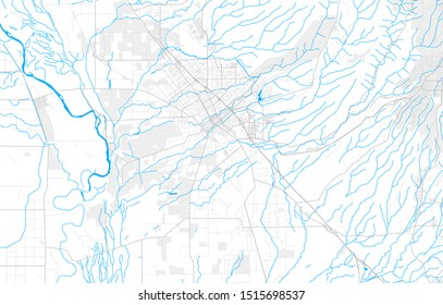 Rich detailed vector area map of Chico, California, USA. Map template for home decor.