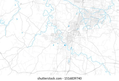 Rich detailed vector area map of Franklin, Tennessee, USA. Map template for home decor.
