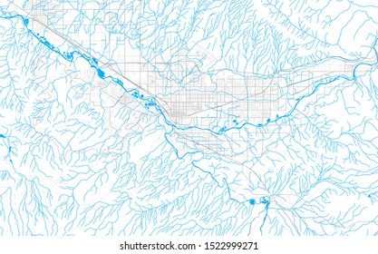 Rich detailed vector area map of Grand Junction, Colorado, USA. Map template for home decor.