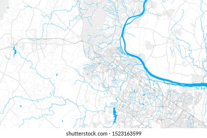Rich detailed vector area map of Leesburg, Virginia, United States of America. Map template for home decor.