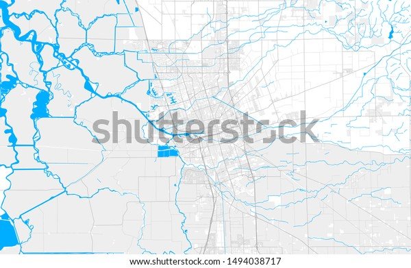 Rich Detailed Vector Area Map Stockton Stock Vector (Royalty ...