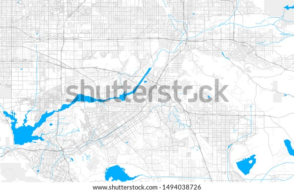 Rich Detailed Vector Area Map Riverside Stock Image ...