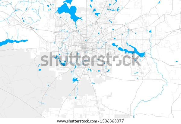 Rich Detailed Vector Area Map Tallahassee Stock Vector ...