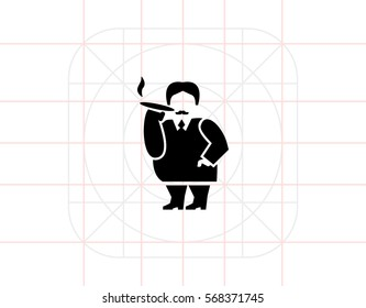 Rich Person Simple Icon