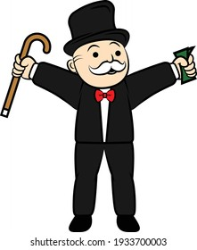 Rich Uncle Pennybags Monopoly Character