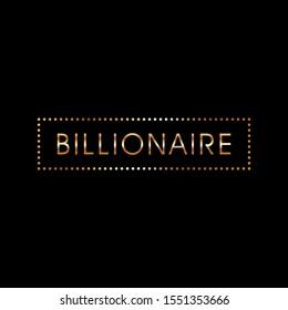 Rich Vector Design Typography Millionaire Billionaire T-Shirt Luxury Design Illustration
