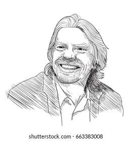 Richard Branson Vector Illustration