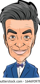 Richard Feynman Vector Caricature Portrait