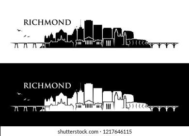 Richmond skyline - Virginia, United States of America, USA - vector illustration