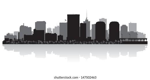 Richmond USA city skyline silhouette vector illustration