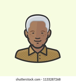 "Richmond, VA / USA - July, 2018 : Illustration of Nelson ""Madiba"" Mandela (July 18, 1918 - December 5, 2013), former President of South Africa"