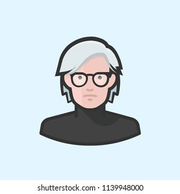 Richmond, VA / USA - July 22, 2018 : Illustration of Andy Warhol