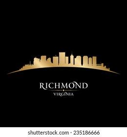 Richmond Virginia city skyline silhouette. Vector illustration