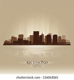 Richmond, Virginia skyline city silhouette