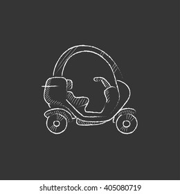 Rickshaw. Drawn in chalk icon.