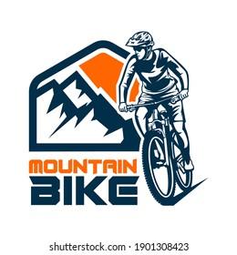 ride mountain bike vector logo