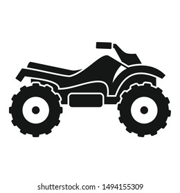Ride quad bike icon. Simple illustration of ride quad bike vector icon for web design isolated on white background