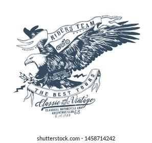 Ride team.Vintage typography design for biker club,custom shop,t-shirts,prints.