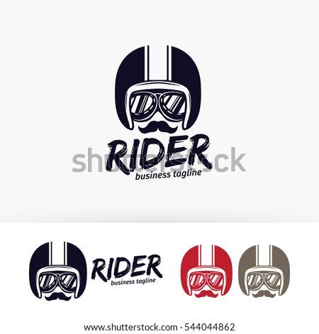 rider vector logo template garage racer のベクター画像素材