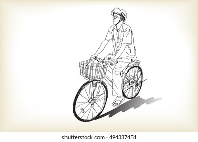 Simple Continuous Line Art : Bicycle drawing images stock photos & vectors shutterstock