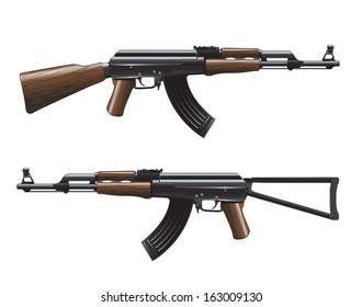 Rifle ak47 vector illustration