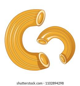 Rigati icon. Cartoon of rigati vector icon for web design isolated on white background