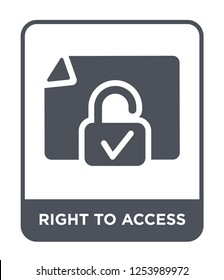 right to access icon vector on white background, right to access trendy filled icons from Gdpr collection, right to access simple element illustration
