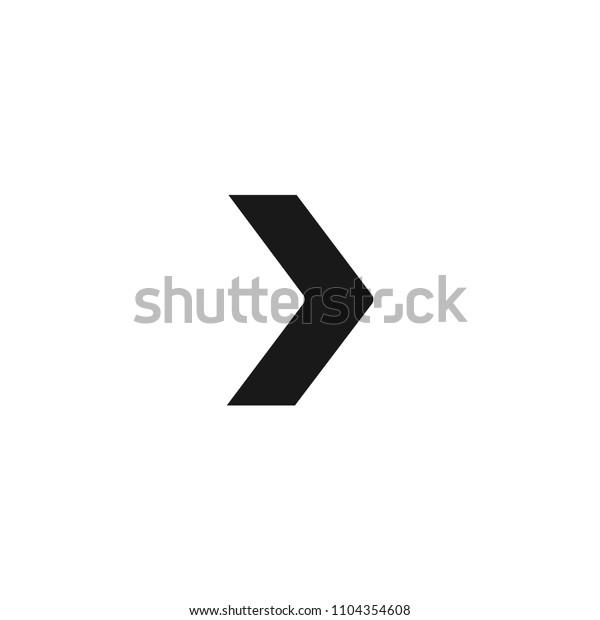 Right Arrow Slide Symbol Vector Icon Stock Vector (Royalty